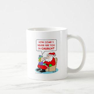 santa claus church coffee mug