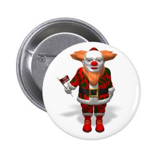 Santa Claus Clown 2 Inch Round Button
