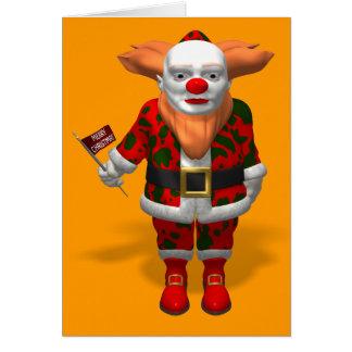 Santa Claus Clown Cards