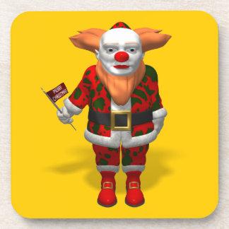 Santa Claus Clown Beverage Coaster