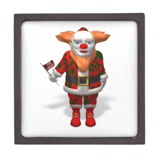 Santa Claus Clown Jewelry Box