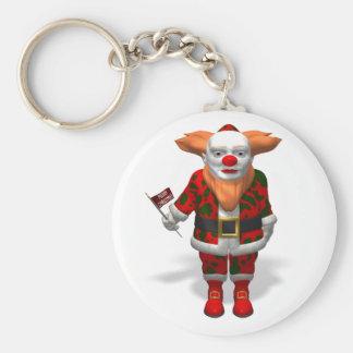 Santa Claus Clown Keychain
