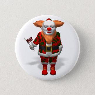 Santa Claus Clown Pinback Button