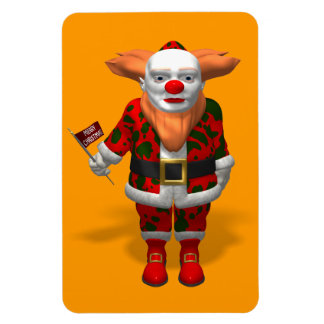Santa Claus Clown Rectangular Photo Magnet