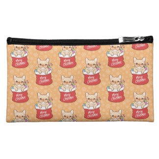Santa Claus comes with a Frenchie Cosmetic Bag