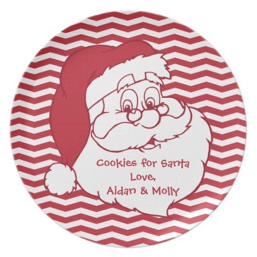 Santa Claus Cookie Plate Zazzle