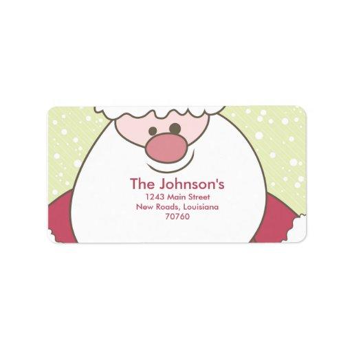 Santa Claus Custom Address Label