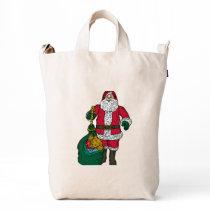 Santa Claus Custom BAGGU Canvas Duck Bags