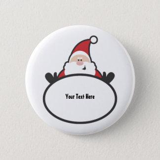 Santa Claus (customizable) Button