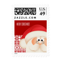 Santa Claus Customizable Christmas Postage Stamps
