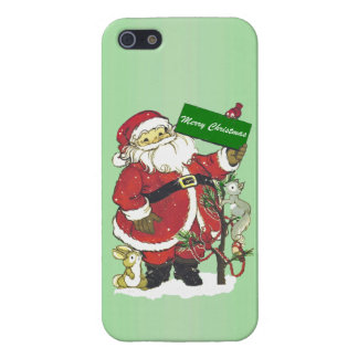 Santa Claus Cute Animals Merry Christmas Case For iPhone SE/5/5s