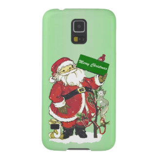 Santa Claus Cute Animals Merry Christmas Cases For Galaxy S5
