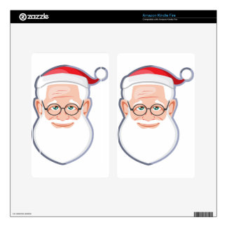 Santa Claus Cute Face Skins For Kindle Fire
