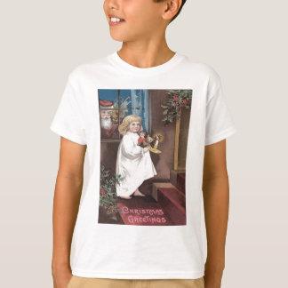 Santa Claus Cute Little Girl Toys Holly T-Shirt