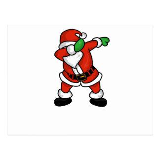 dabb dance. santa claus dab dance christmas t-shirt postcard dabb