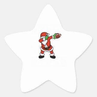 Santa Claus dabbing Christmas Football touchdown Star Sticker