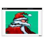 "Santa Claus Decal For 17"" Laptop"