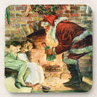 Santa Claus Delivering Presents Coasters