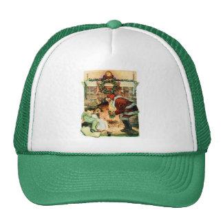 Santa Claus Delivering Presents Hats