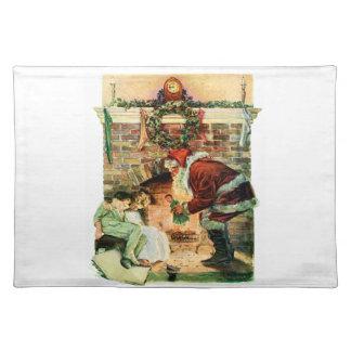 Santa Claus Delivering Presents Placemat