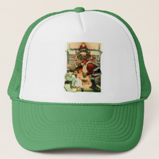 Santa Claus Delivering Presents Trucker Hat