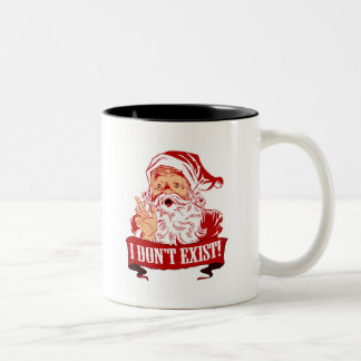 Santa Claus Doesn't Exist Two-Tone Coffee Mug