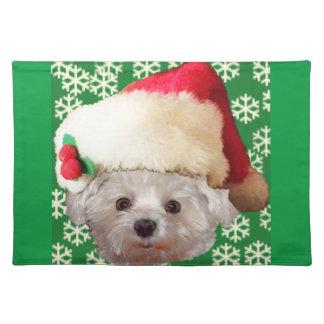 Santa Claus Dog Cloth Placemat