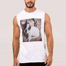 Santa claus dog -funny pug - dog claus sleeveless shirt