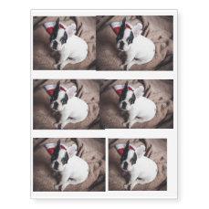 Santa claus dog -funny pug - dog claus temporary tattoos