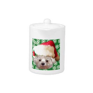 Santa Claus Dog Teapot