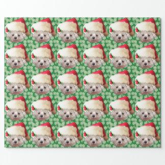 Santa Claus Dog Wrapping Paper