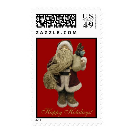 Santa Claus Doll Photo Postage Stamp