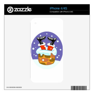 Santa Claus Down The Chimney iPhone 4 Decal