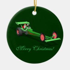 Santa Claus Drag Race Ceramic Ornament at Zazzle