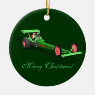 Santa Claus Drag Race Christmas Tree Ornaments