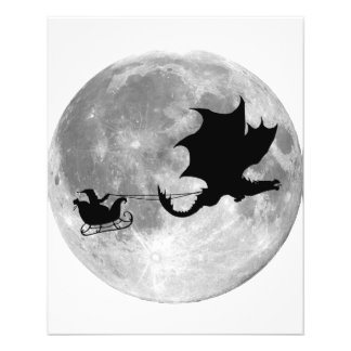 Santa Claus Dragon Rider Sleigh Ride Custom Flyer