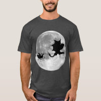 Santa Claus Dragon Rider Sleigh Ride T-Shirt