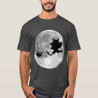 Santa Claus Dragon Rider Sleigh Ride T-Shirt