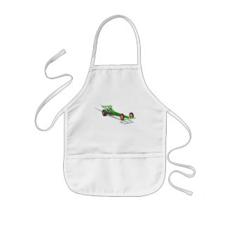 Santa Claus Driving A Dragster Apron