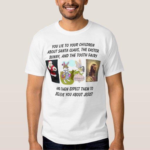 Santa claus e bunny tooth fairy santa cl t shirt for Tooth fairy t shirt