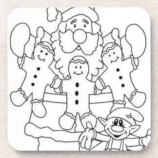 Santa Claus Elf Coaster