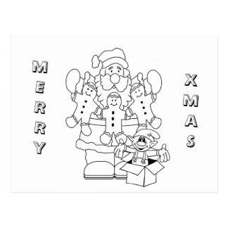 Santa Claus & Elf Postcard