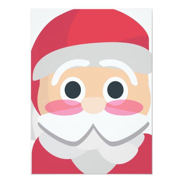 santa claus emoji 5.5x7.5 paper invitation card   Zazzle