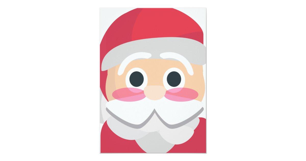 Santa Claus Emoji 55x75 Paper Invitation Card Zazzle
