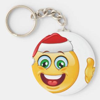 santa claus emoji keychain