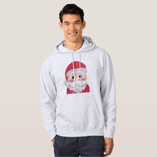 santa claus emoji mens hooded hoodie sweatshirt
