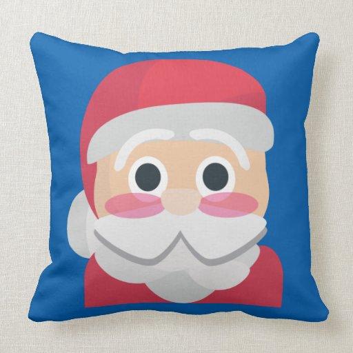 santa claus emoji throw pillow Zazzle