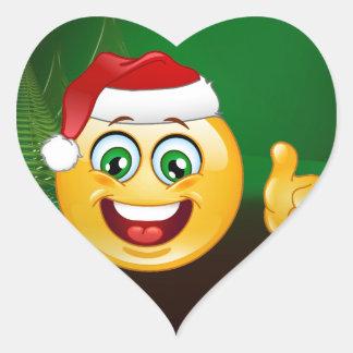 santa claus emojis heart sticker