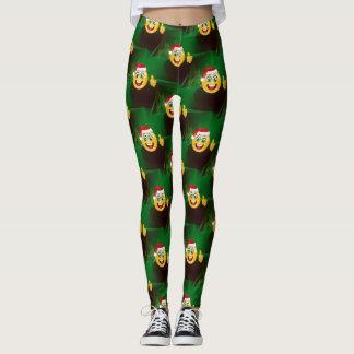 santa claus emojis leggings