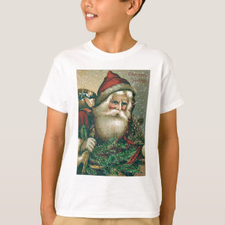 Santa Claus Evergreen Sack of Toys T-Shirt